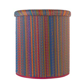 Handmade Cancun Multicolor Outdoor Storage Ottman Pouf (India)