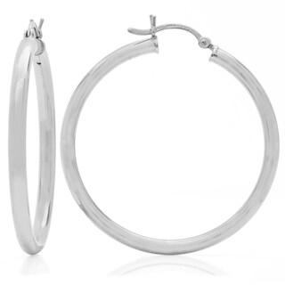 1.5 inch Sterling Silver Hoop Earrings