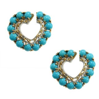 Michael Valitutti Sleeping Beauty Turquoise 'Heart' Earrings