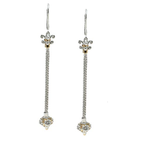 Michael Valitutti Palladium Silver Dangle Earrings