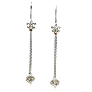 Michael Valitutti Palladium Silver Dangle Earrings|https://ak1.ostkcdn.com/images/products/9679440/P16858652.jpg?impolicy=medium