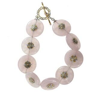 Michael Valitutti Rose Quartz Bracelet