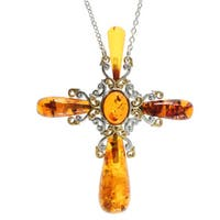 Michael Valitutti Amber 'Cross' Necklace