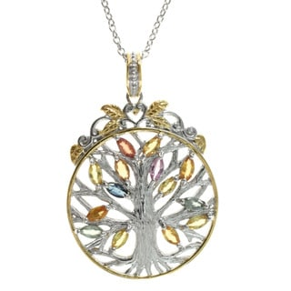 Michael Valitutti Multi Sapphire 'Tree of Life' Pendant
