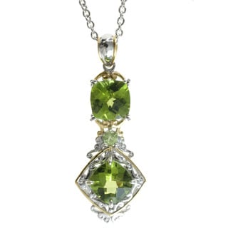Michael Valitutti Palladium Silver and Peridot Necklace