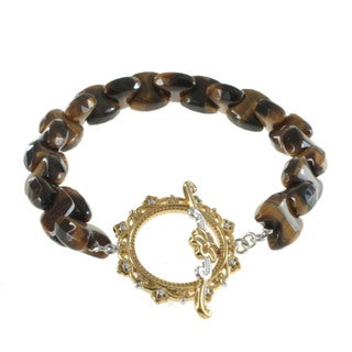 Michael Valitutti Tiger's Eye Toggle Bracelet