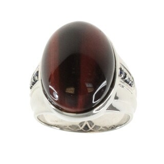Michael Valitutti Tiger's Eye or Onyx Men's Ring