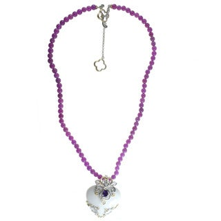 Michael Valitutti White Agate 'Heart' Necklace