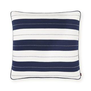 Tommy Hilfiger Knit Cabana Navy/ White Euro Sham