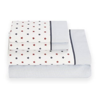 Tommy Hilfiger Union Stars Cotton Rich Sheet Set