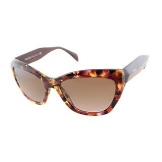 Prada Women's PR 02QS PDN6P1 Spotted Violet Havana Sunglasses