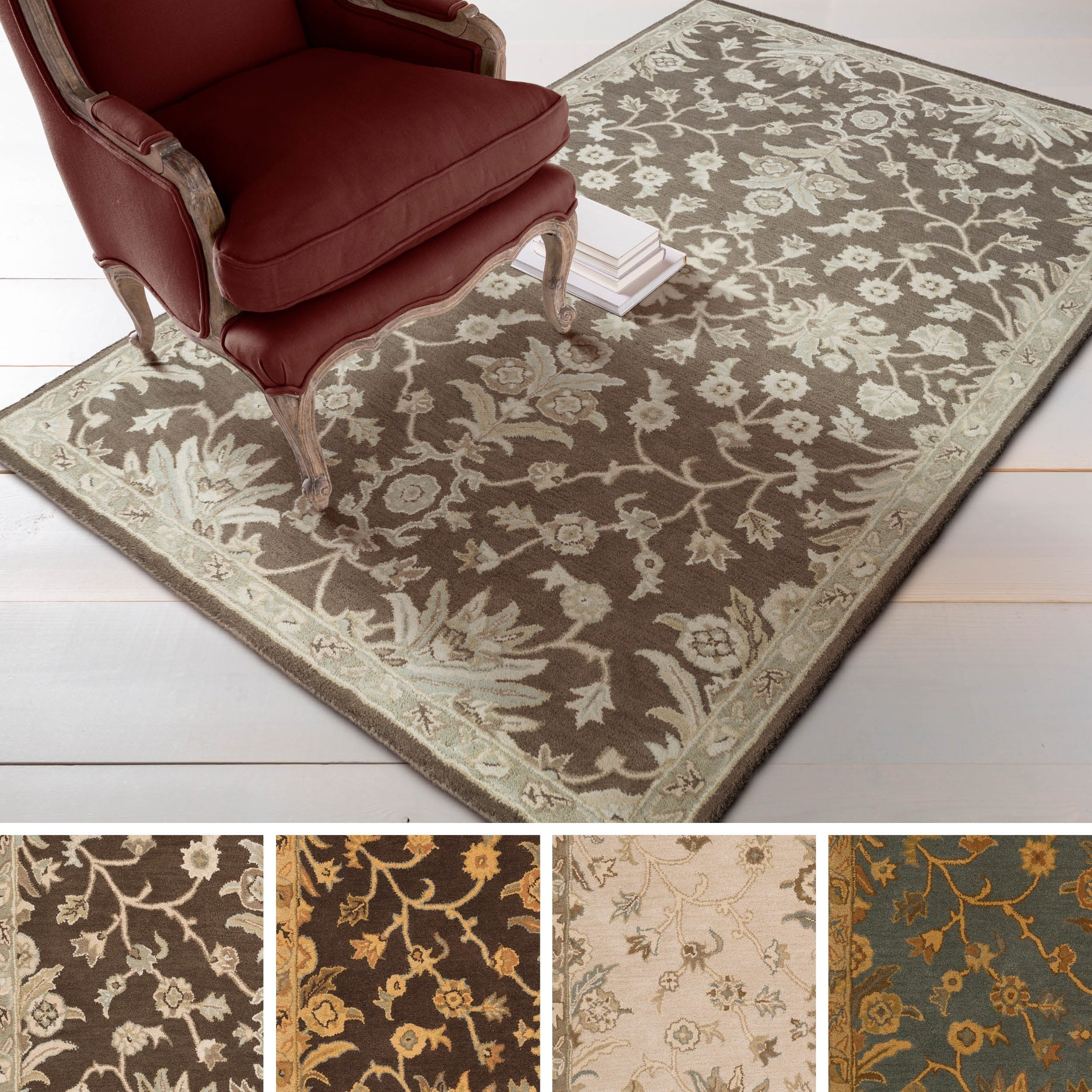 Hand Tufted Karla Traditional Wool Area Rug 2