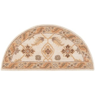 Hand-tufted Wendy Beige/Green Wool Area Rug - 2' x 4' Hearth
