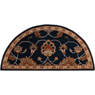 Hand-tufted Shelia Navy/Ivory Wool Rug (2' x 4' Hearth)