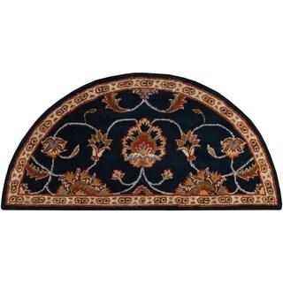 Hand-tufted Shelia Navy/Ivory Wool Area Rug (2' x 4' Hearth)