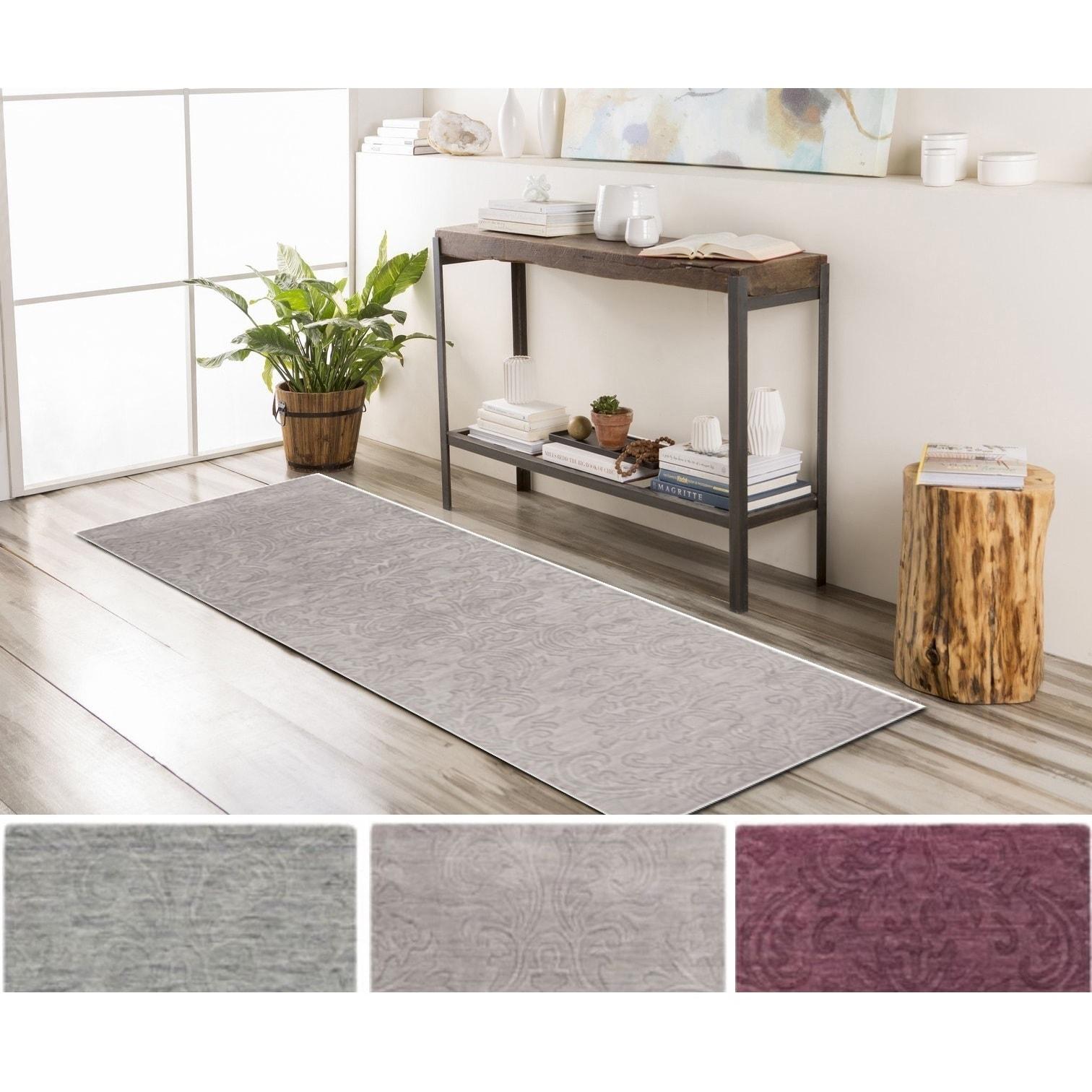 SURYA Hand-Loomed Ellen Wool Rug (2'6 x 8') (Lavender-(2'...