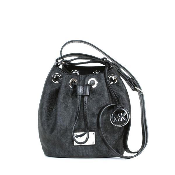 90a496dda1 Shop MICHAEL Michael Kors MK Signature PVC Black Jules Crossbody ...