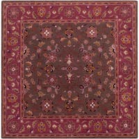 Hand-tufted Ricky Purple/Brown Wool Area Rug - 9'9