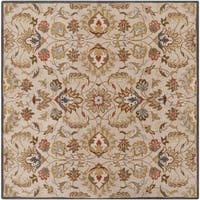 Hand-tufted Micah Beige/Green Wool Area Rug - 9'9