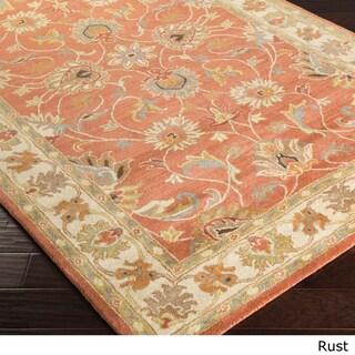 Hand-tufted Nia Traditional Wool Area Rug (2' x 3') (Option: Rust-(2' x 3'))