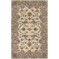Hand-tufted Micah Beige/Green Wool Area Rug - 2' x 3'