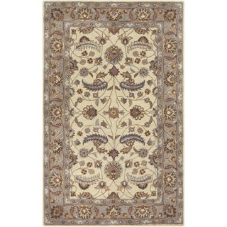 Hand-tufted Micah Beige/Green Wool Rug (7'6 x 9'6)