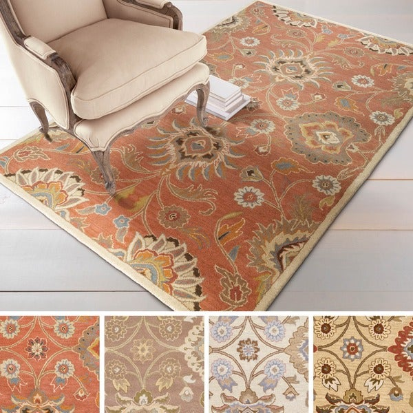 Noah Hand-tufted Traditional Floral Wool Area Rug - 8' x 11'