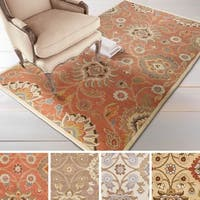 Noah Hand-tufted Traditional Floral Wool Area Rug (8' x 11') - 8' x 11'