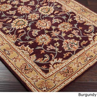 Hand Tufted Nia Traditional Wool Area Rug 7 6 X 9