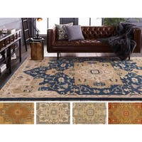 Hand-tufted Misty Traditional Wool Area Rug - 8' x 11'