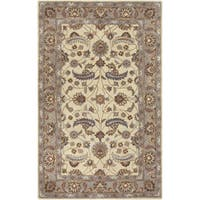 Hand-tufted Micah Beige/Green Wool Area Rug - 9' x 12'