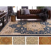 Hand-tufted Misty Traditional Wool Area Rug - 9' x 12'
