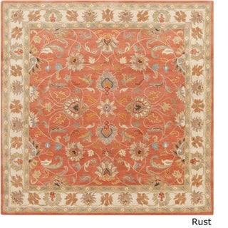 Hand-tufted Nia Traditional Wool Area Rug (9'9 Square) (5 options available)