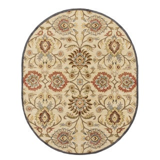 Hand-tufted Noah Traditional Wool Rug (8' x 10' Oval)