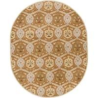 Hand-tufted Sofia Traditional Wool Area Rug (8' x 10' Oval)