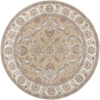 Hand-tufted Reid Traditional Wool Area Rug (9'9 Round)