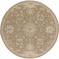 Hand-tufted Nolan Traditional Wool Area Rug (9'9 Round)