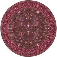Hand-tufted Ricky Purple/Brown Wool Area Rug (6' Round)