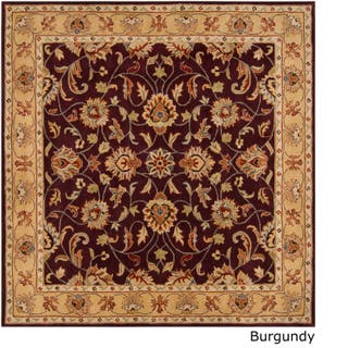 Hand Tufted Nia Traditional Wool Area Rug 9 Square Option