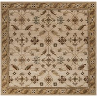 Copper Grove Puli Hand-tufted Beige/Green Wool Area Rug - 6' Square