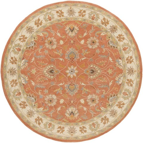 Nia Handmade Traditional Border Area Rug