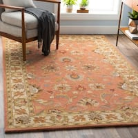 Hand-tufted Nia Traditional Wool Area Rug - 8' Round