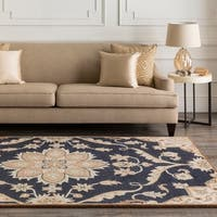 Hand-tufted Robyn Navy/Brown Wool Area Rug - 8'