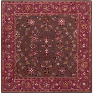 Hand-tufted Ricky Purple/Brown Wool Rug (8' Square)