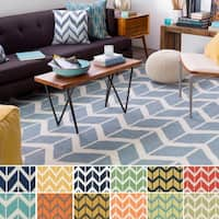 Hand-Woven Ora Reversible Wool Area Rug