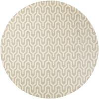 Hand-Woven Jo Reversible Wool Area Rug - 8' x 8'