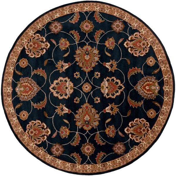 Shop Hand-tufted Shelia Navy/Ivory Wool Area Rug