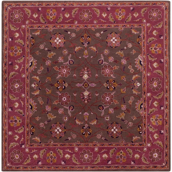 Shop Hand Tufted Ricky Purple Brown Wool Area Rug 4 Square Free
