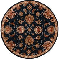 Hand-tufted Shelia Navy/Ivory Wool Area Rug - 6'