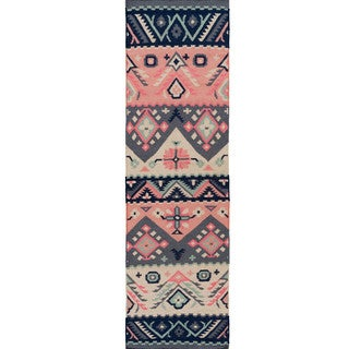 Hand-woven Tess Reversible Wool Rug (2'6 x 8')